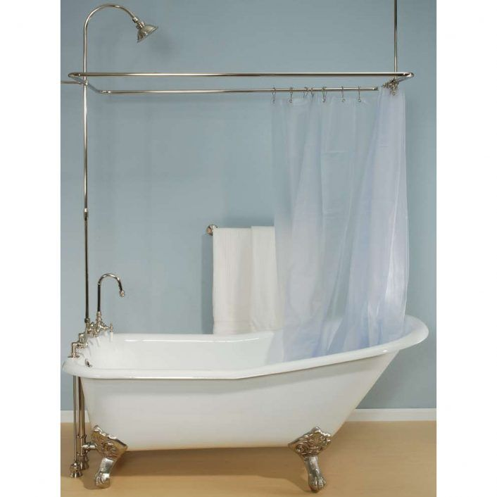 Clawfoot Tub Curtain Rod Kits Boho Tub Bathroom Clawfoot Tub