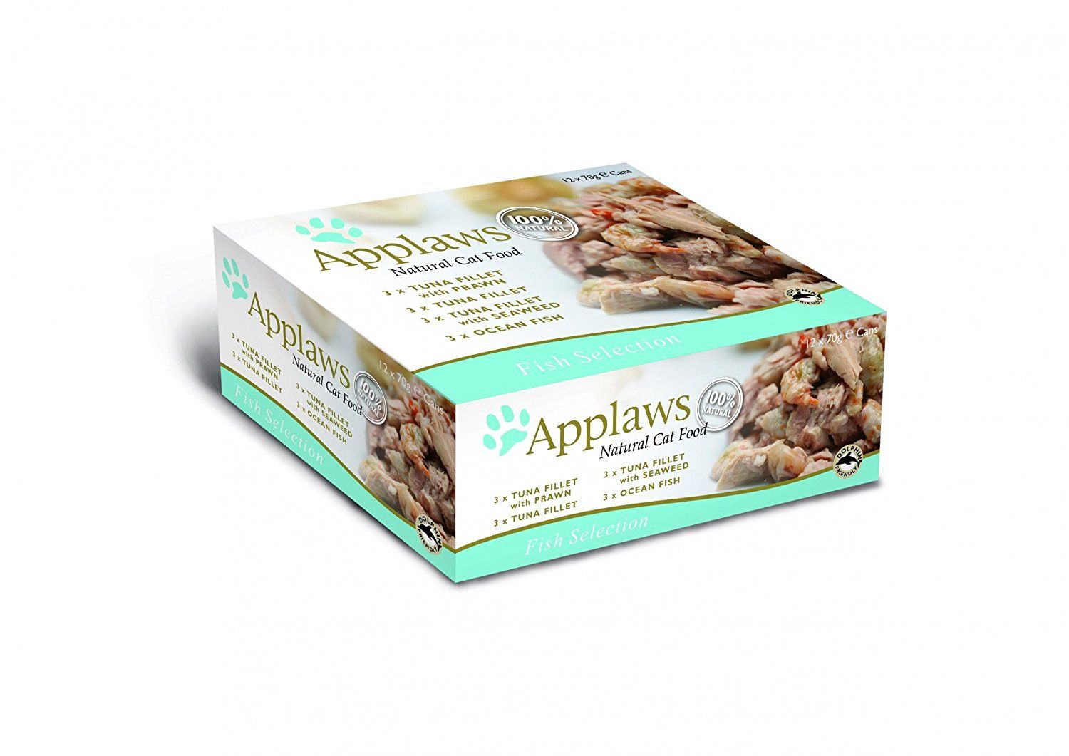 Applaws cat tin fish selection multi pack 12x70g pack of