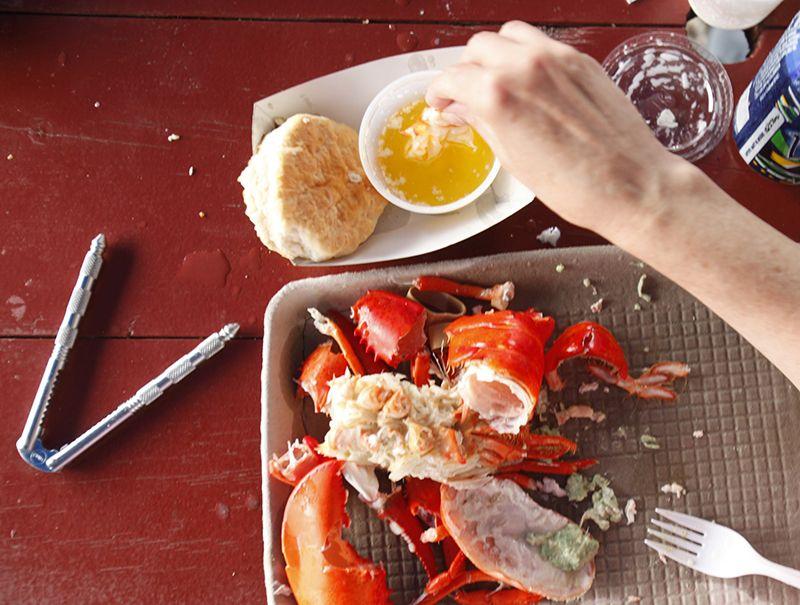 Eat lobster. At a lobster shack Sure, sure. Lobster doesn