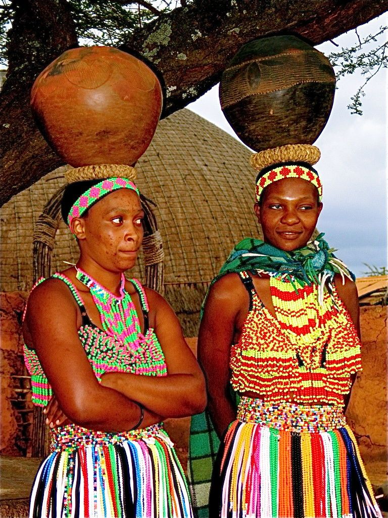 beautiful maidens wearing brightly colored