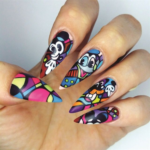 Salon Modded Nails Award Winning Nail Art Made Wearable Mickey