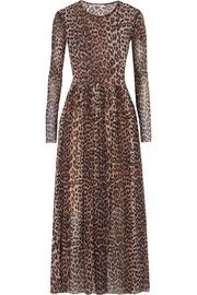 051426e6214 GANNI Tilden leopard-print stretch-mesh maxi dress