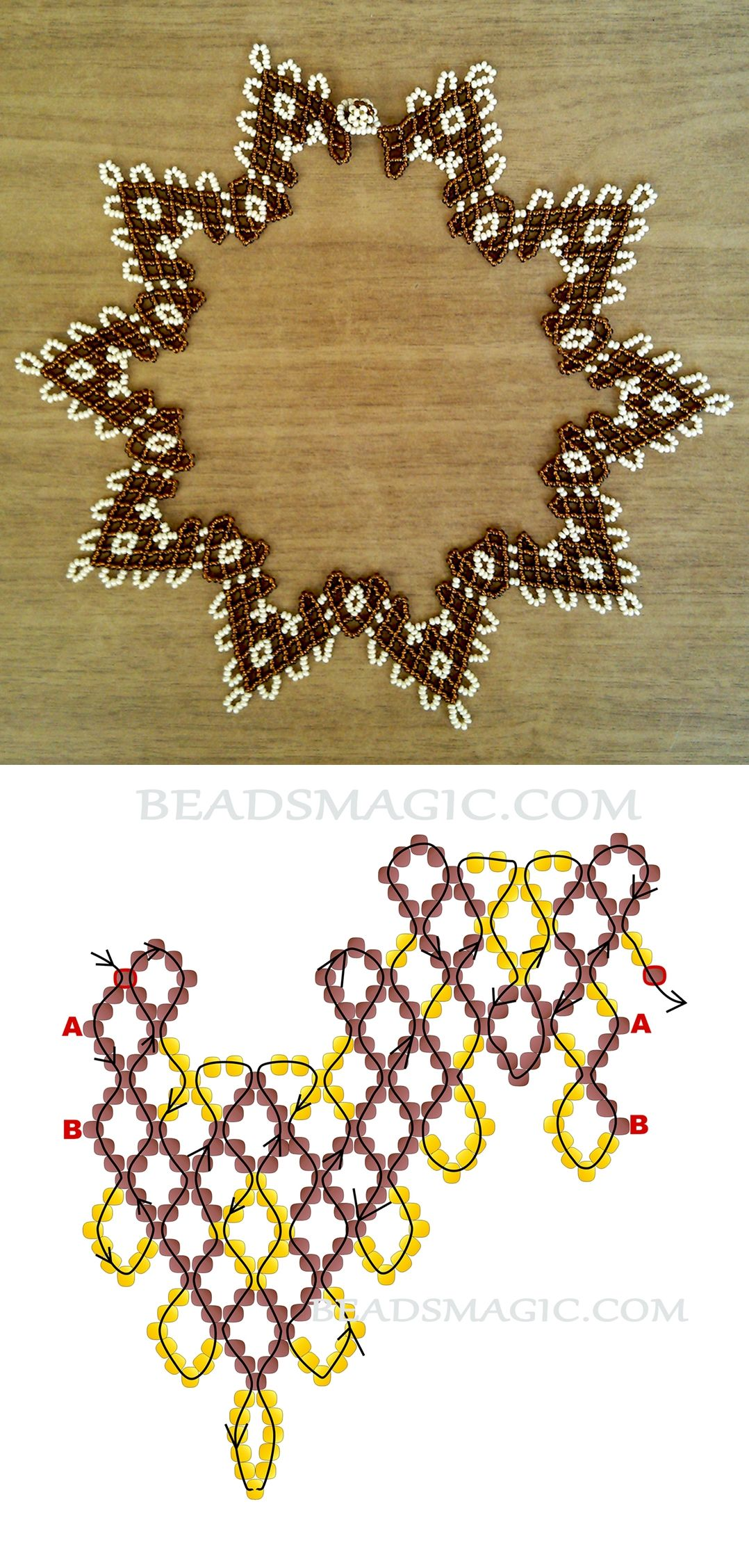 Photo of Free pattern for necklace Petra