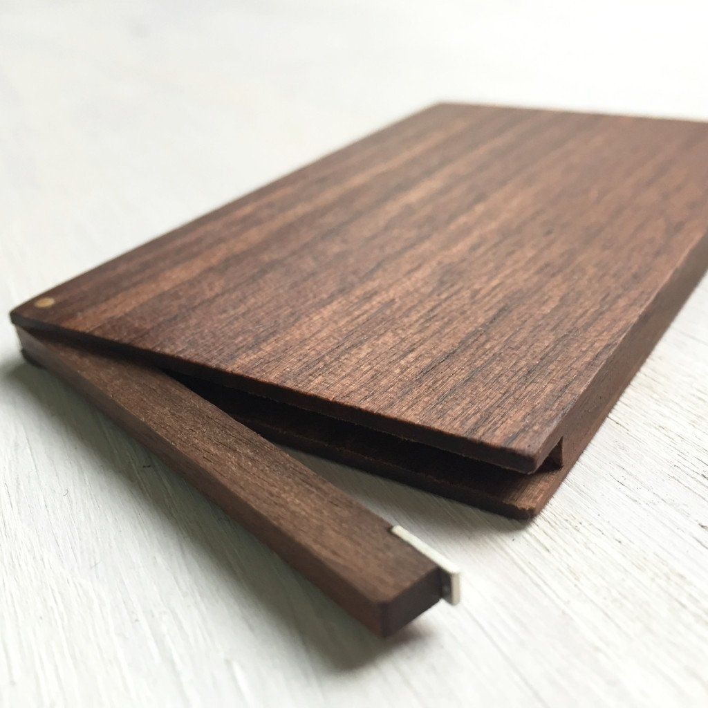 Slim Business Card Case - Walnut | Business card case, Walnut wood ...