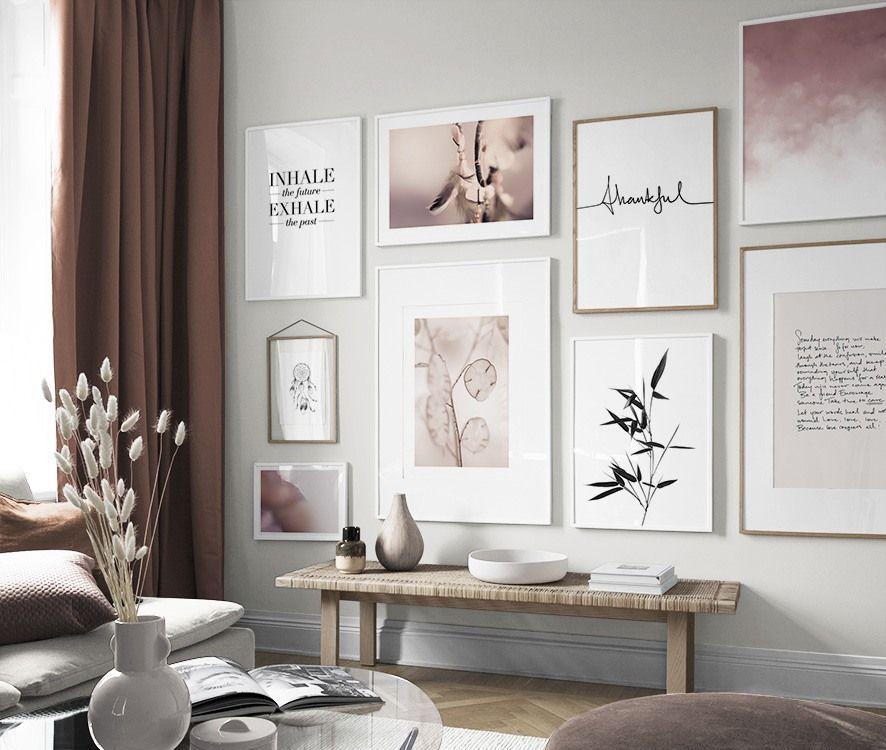 Inspiration Fur Schone Wohnzimmer Bilderwand Mit Postern Gallery
