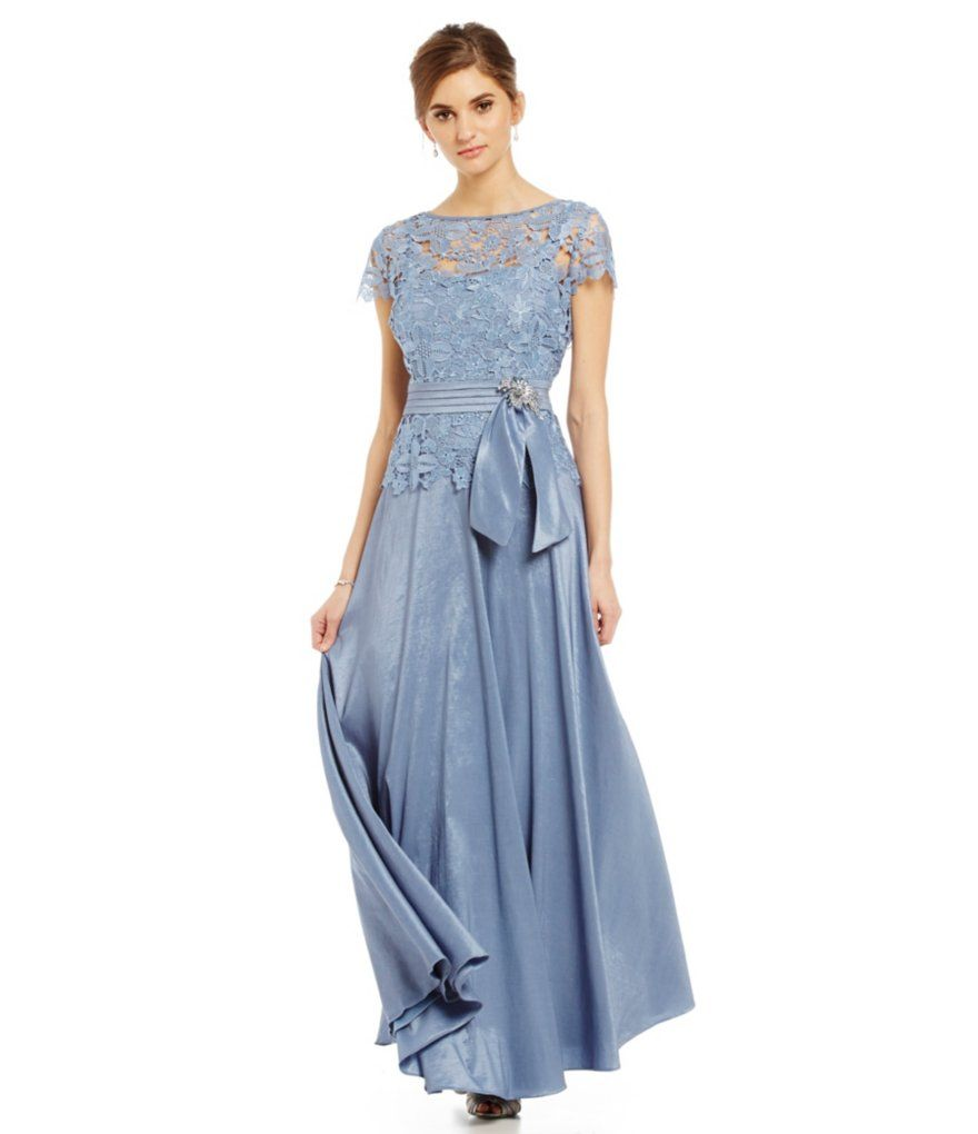 Emma street lace popover taffeta gown dress pinterest dillards