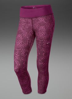 921e066287e9 Nike Womens Epic Run Printed Cropped Tights - Womens Running Clothing -  Raspberry Red-Matte Silver