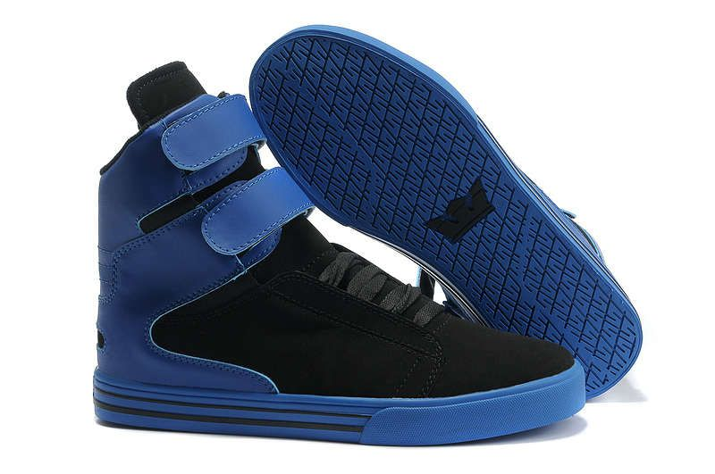 Supra Cheap On Sale Now Supra TK Society Black Suede Blue Heel Men Shoessupra skytop blackhigh end
