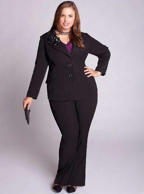 Imagenes de trajes de oficina para mujeres gorditas