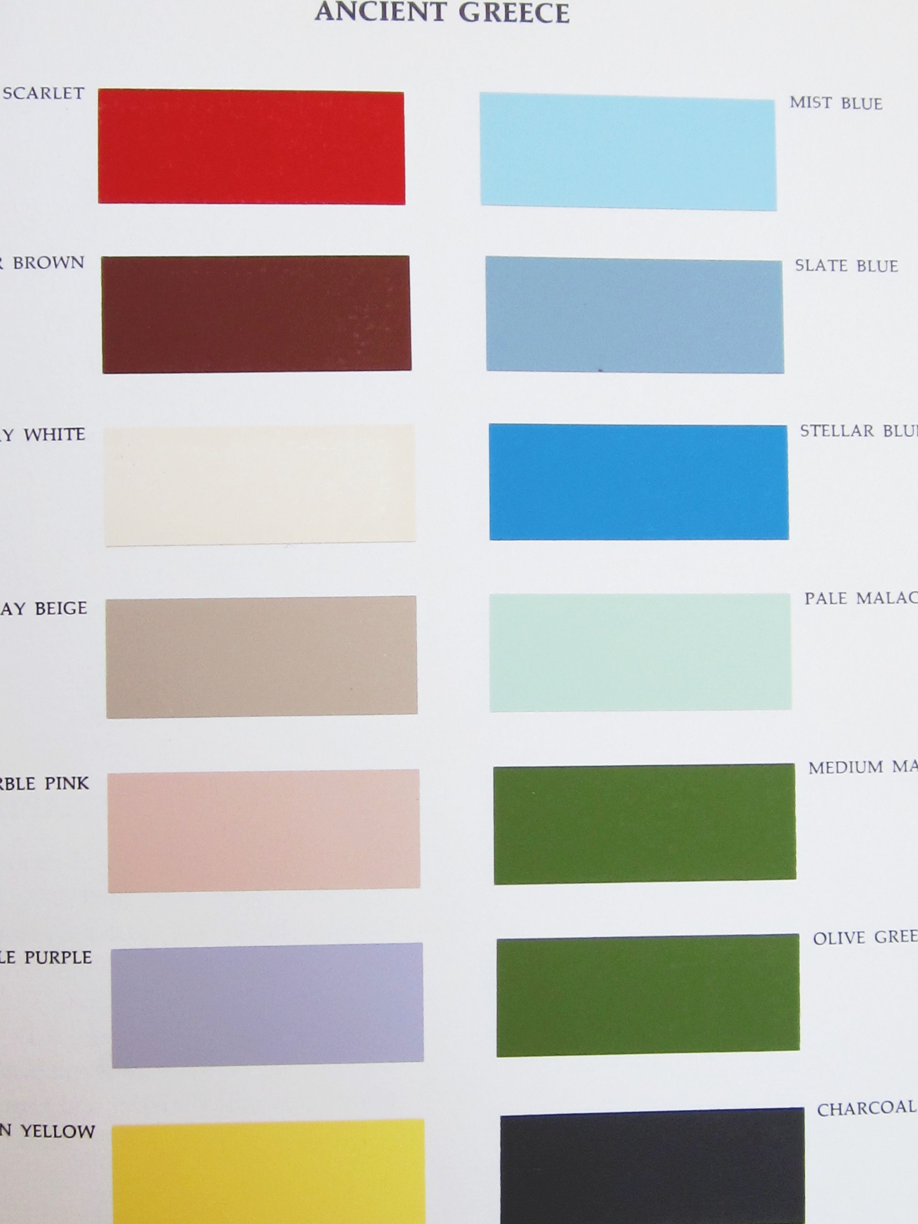 Palette Ancient Greece From Color For Interiors By Faber Birren Antique Greece To Color