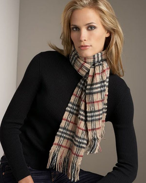 Womens Burberry Scarves Check Crinkled Camel | Burberry ...