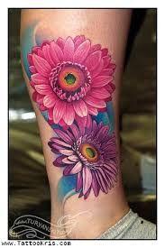 Gerbera Flower Tattoo Recherche Google Daisy Tattoo Designs Daisy Flower Tattoos Beautiful Flower Tattoos