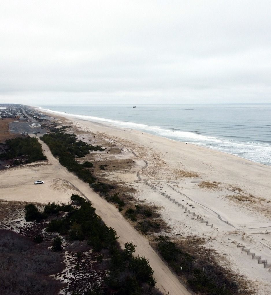 Aerial Shots Of Cupsogue Beach In West