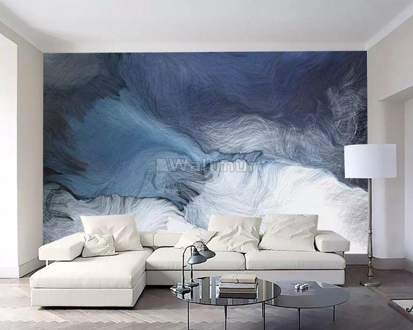 Abstract Dark Blue Brush Wallpaper Mural Wall Wallpaper Wall Decor Bedroom Mural Wallpaper