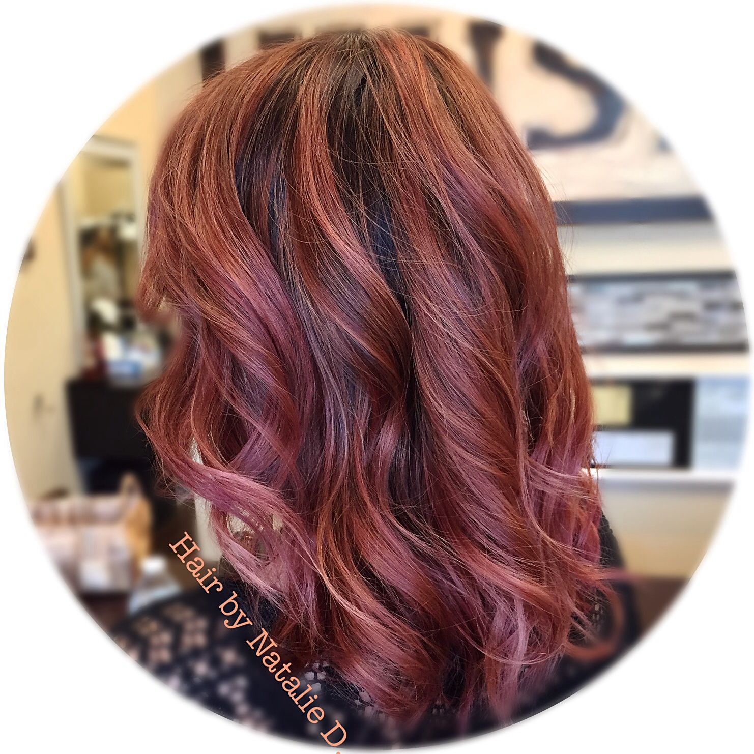 Rose Gold Hair Color By Natalie D Balayage Highlights Hair And