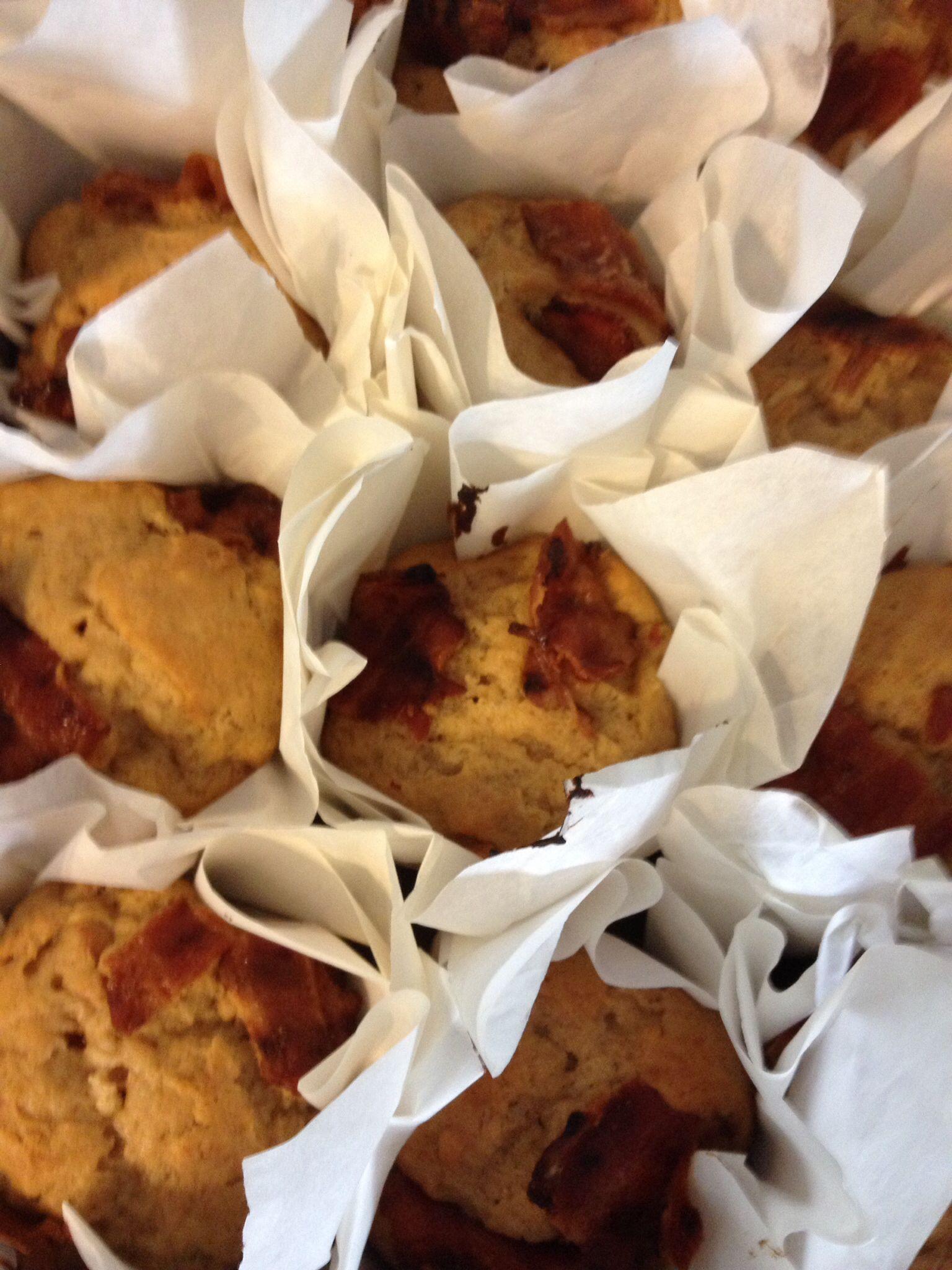 Elvis breakfast muffins... Banana, peanut butter & bacon