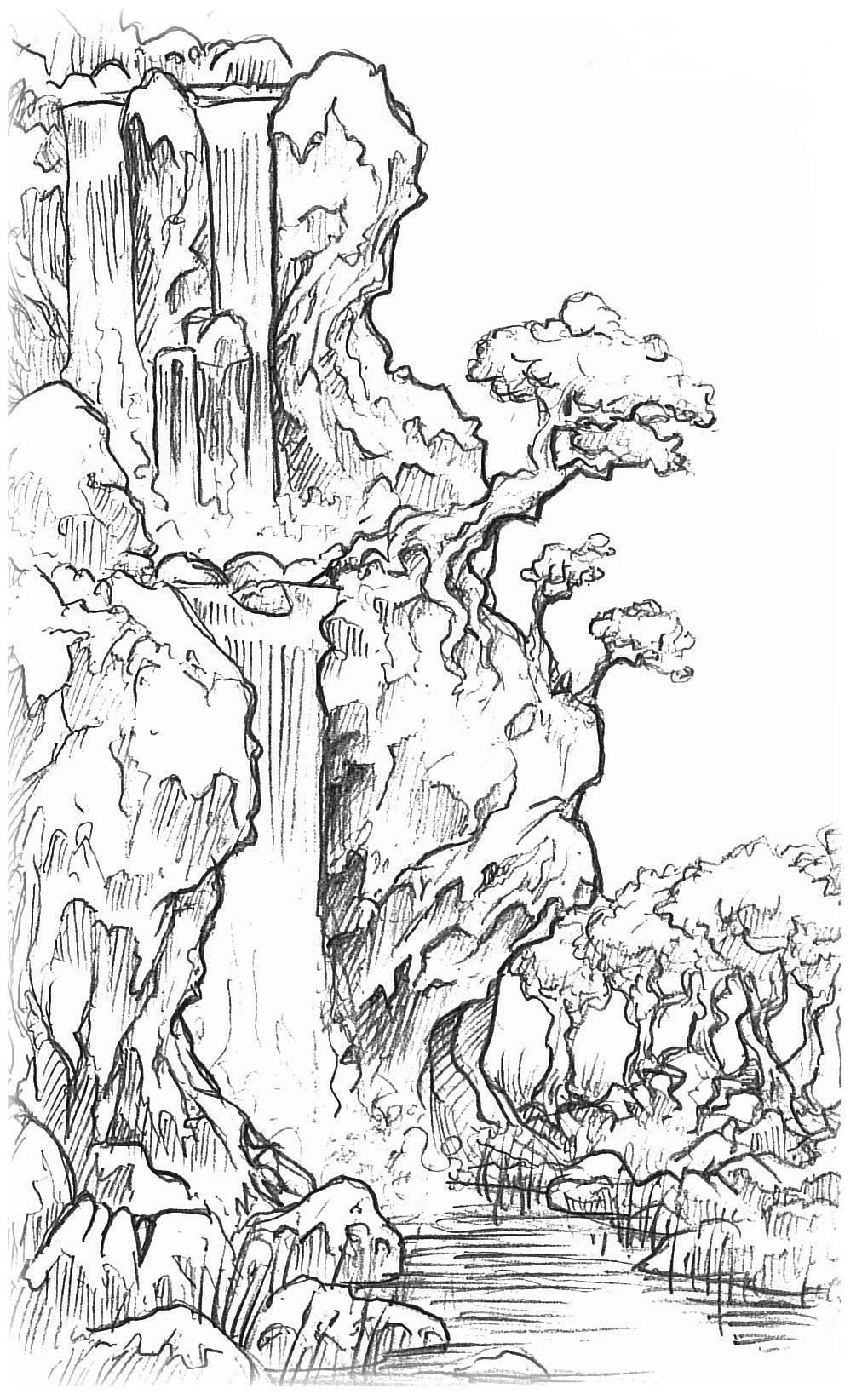 сначала была природа раскраска и фото деревья водопады конечно, популярность перманентных
