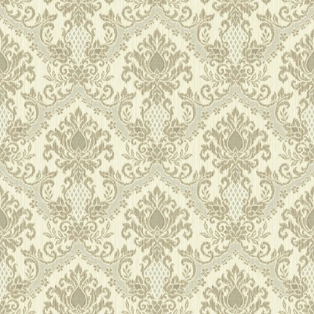 """Waverly Small Prints Bedazzled 33' x 20.5"""" Damask Wallpaper"""