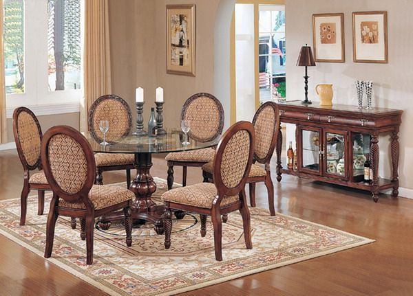 Round Dining Table  Living Space  Pinterest  Round Dining Table Gorgeous Traditional Dining Room Sets Cherry Review