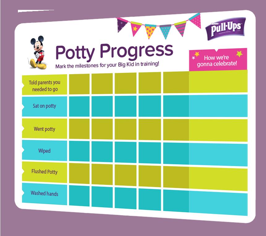 Potty Training Activities Big Kid Beginnings   Pull-Ups® Yay