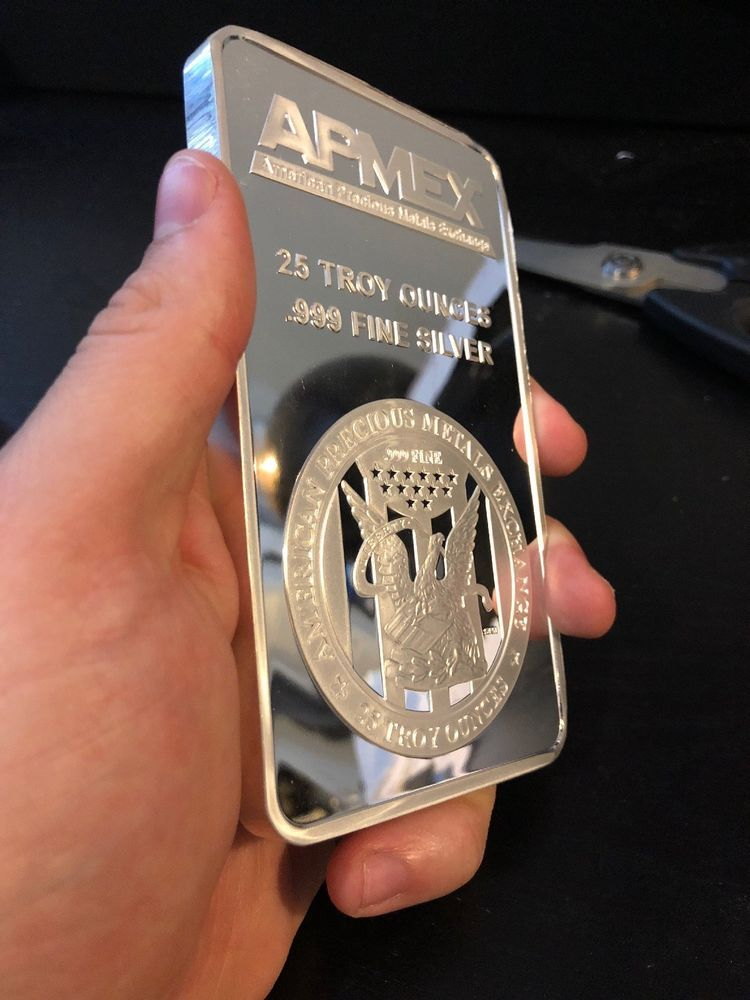 Apmex 25 Oz Silver Bar