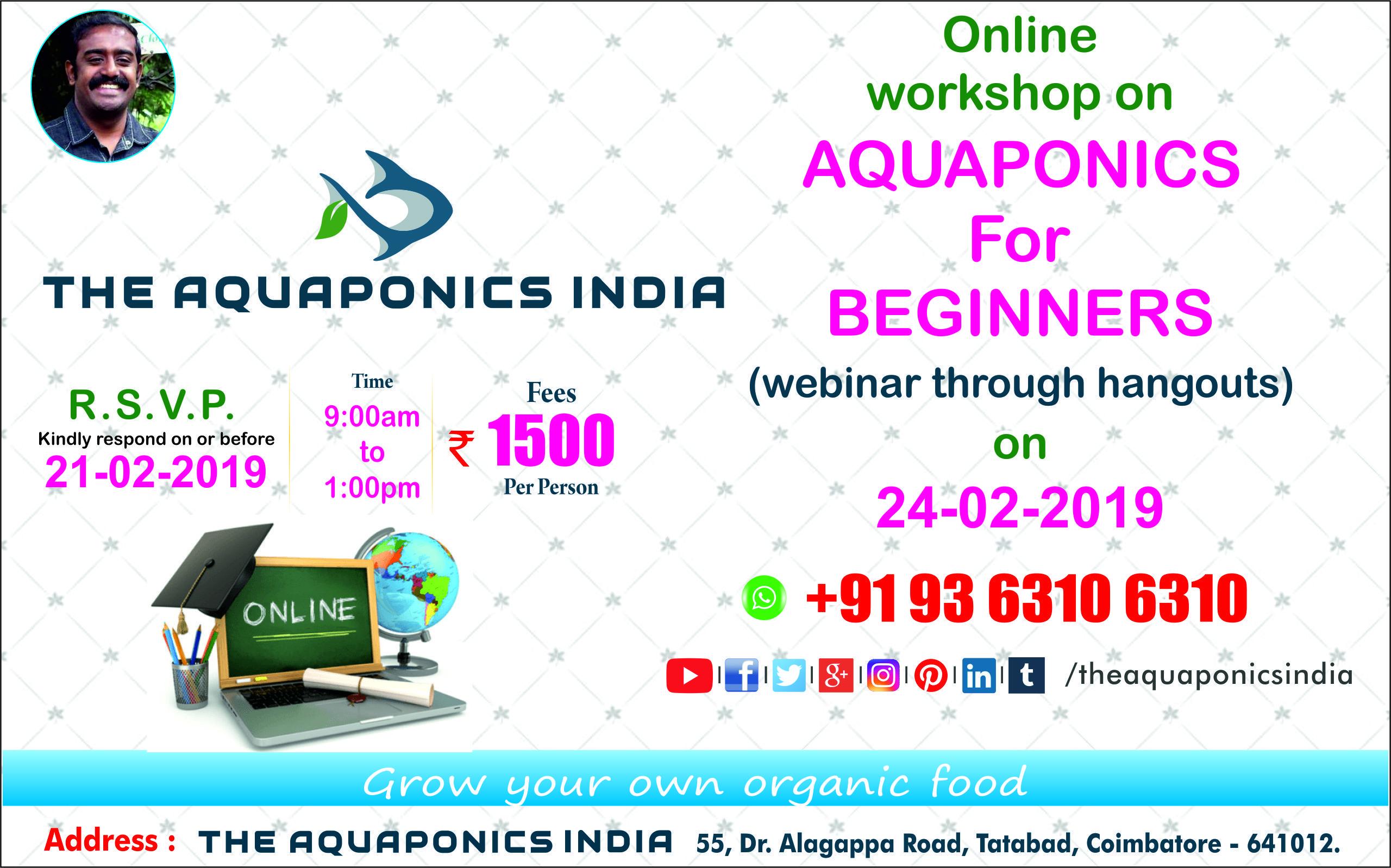 Online Workshop / Training / Class on AQUAPONICS for