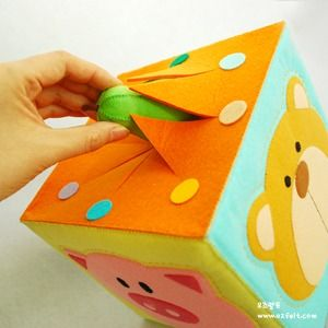 동물 요술 상자 만들기 DIY / 오즈펠트 공예