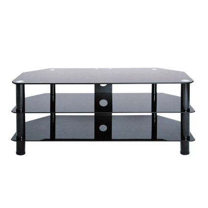 Black Legs Black Glass Tv Stand By Levv Up To 50 This Tv