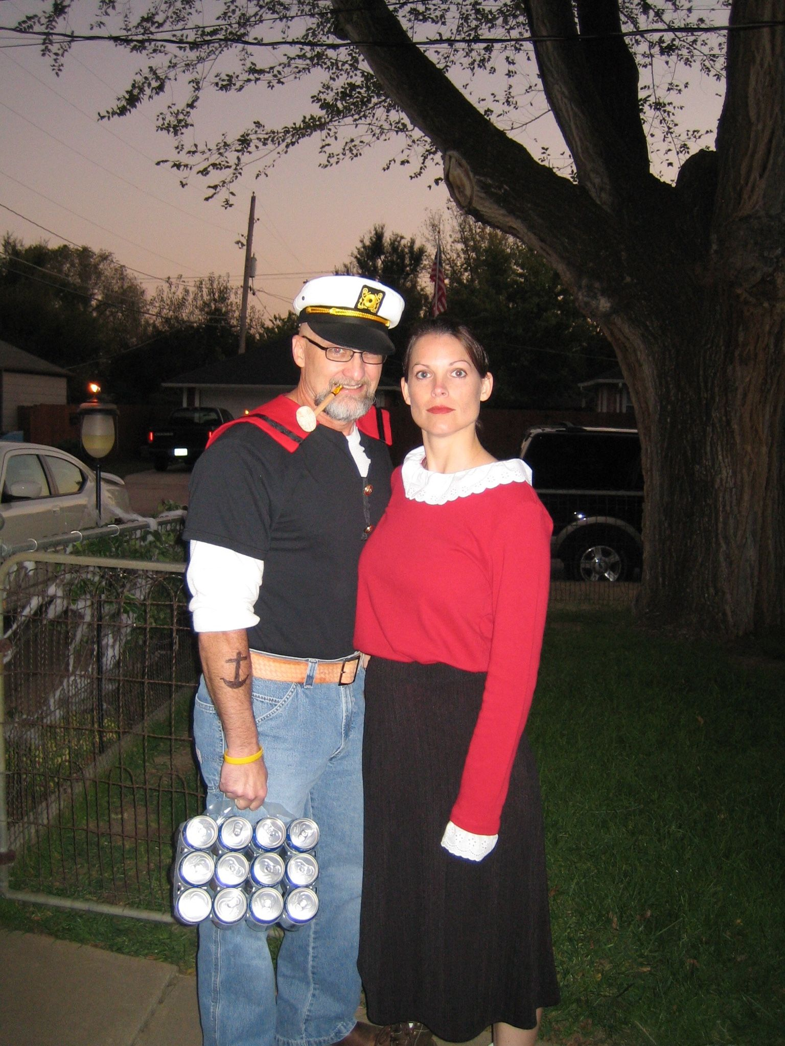 Popeye u0026 Olive Oyl costume  sc 1 st  Pinterest & Popeye u0026 Olive Oyl costume | Costumes | Pinterest | Popeye olive oyl