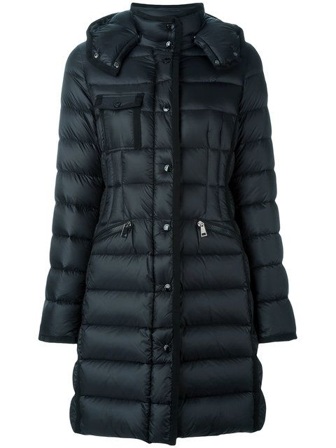 Moncler Hermine Padded Moncler- Black Feather coat