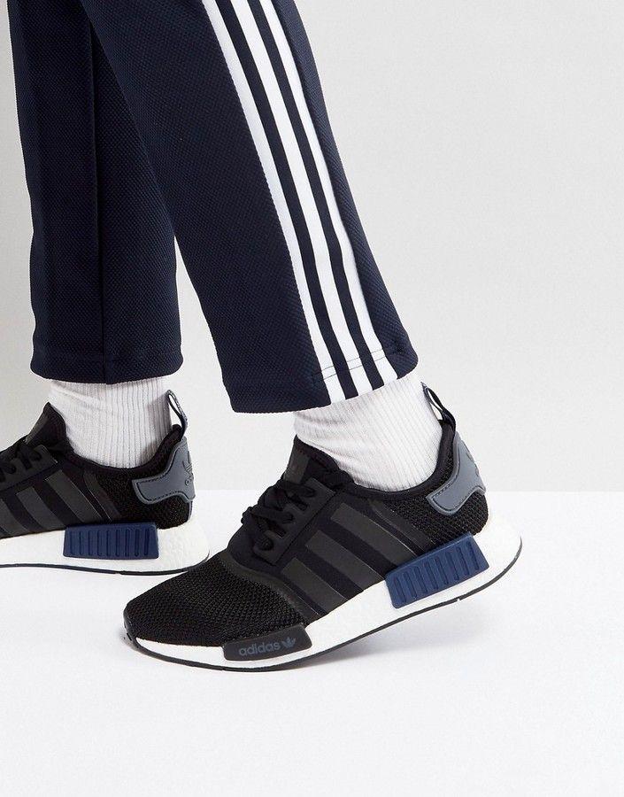 7f08fa7c7 adidas Originals NMD R1 PK Sneakers In Black S76841 Adidas Nmd R1