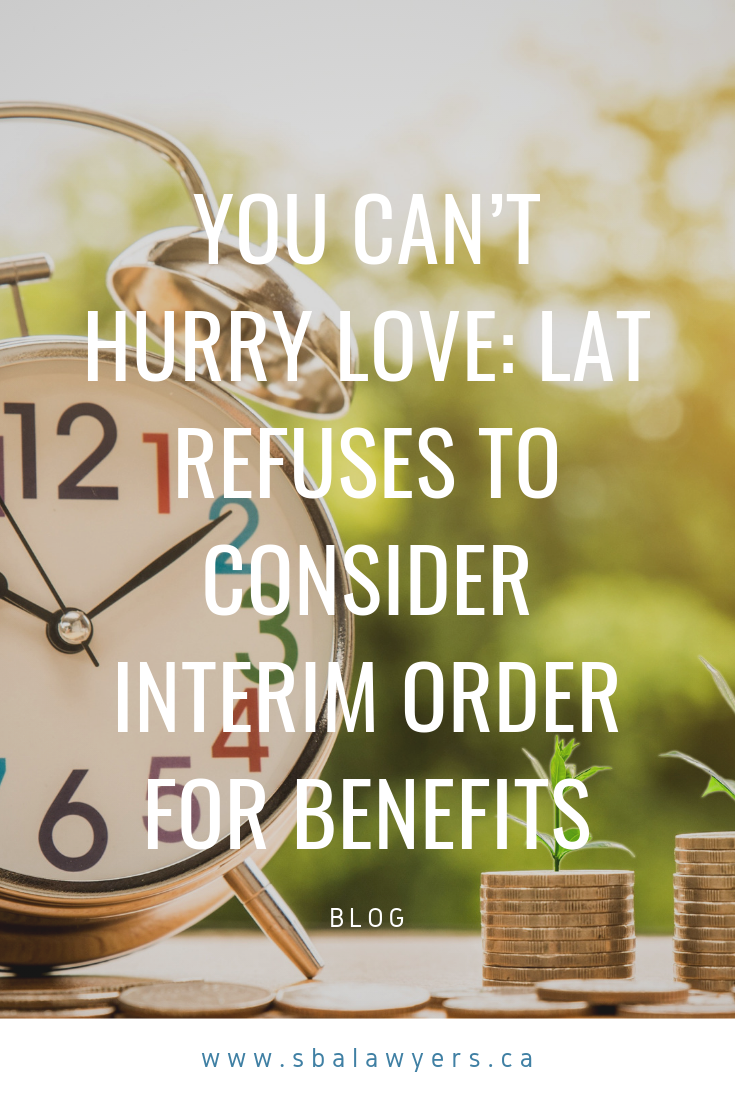 You Can T Hurry Love Lat Refuses To Consider Interim Order For