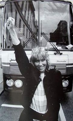"""In 1983, Agnetha went to Great Britain to promote her album """"Wrap Your Arms Around Me"""""""