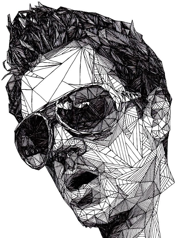 Straight Line Tattoo Artist Uk : Triangulations johnny knoxville by josh bryan abstract