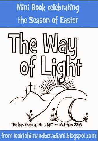Free Mini Coloring Book About The Way Of Light Fourteen Stations Celebrating Easter From