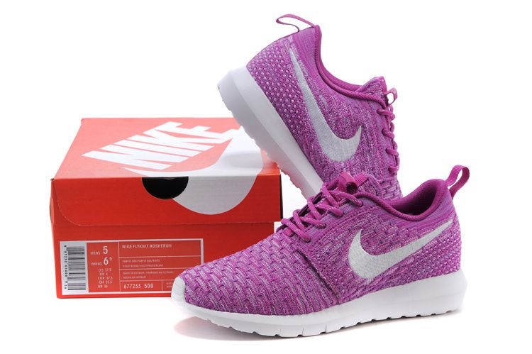nike roshe flyknit womens purple nike shoes