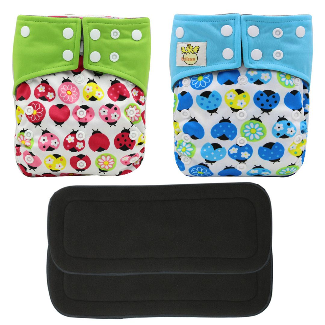 Lady Bug Snug Cloth Diaper Pack (4pc-set), 58.1% discount @ PatPat Mom Baby Shopping App