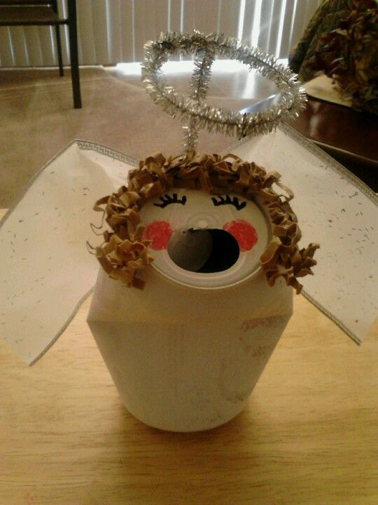 Choir Angel From Recycled Diet Coke Can Christmas Crafts
