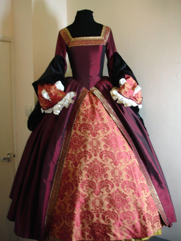 Tudor gown google search fantasy medieval clothes for Tudor style wedding dress