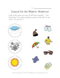 Weather Worksheets For Kids Weather Worksheets Preschool Weather Weather Lessons