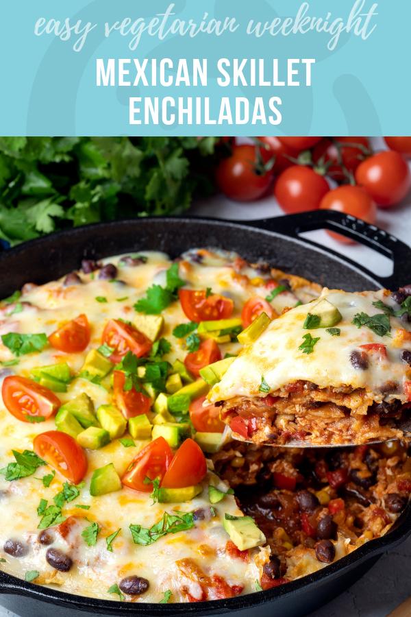 Easy Weeknight Mexican Skillet Enchiladas - Super Healthy Kids
