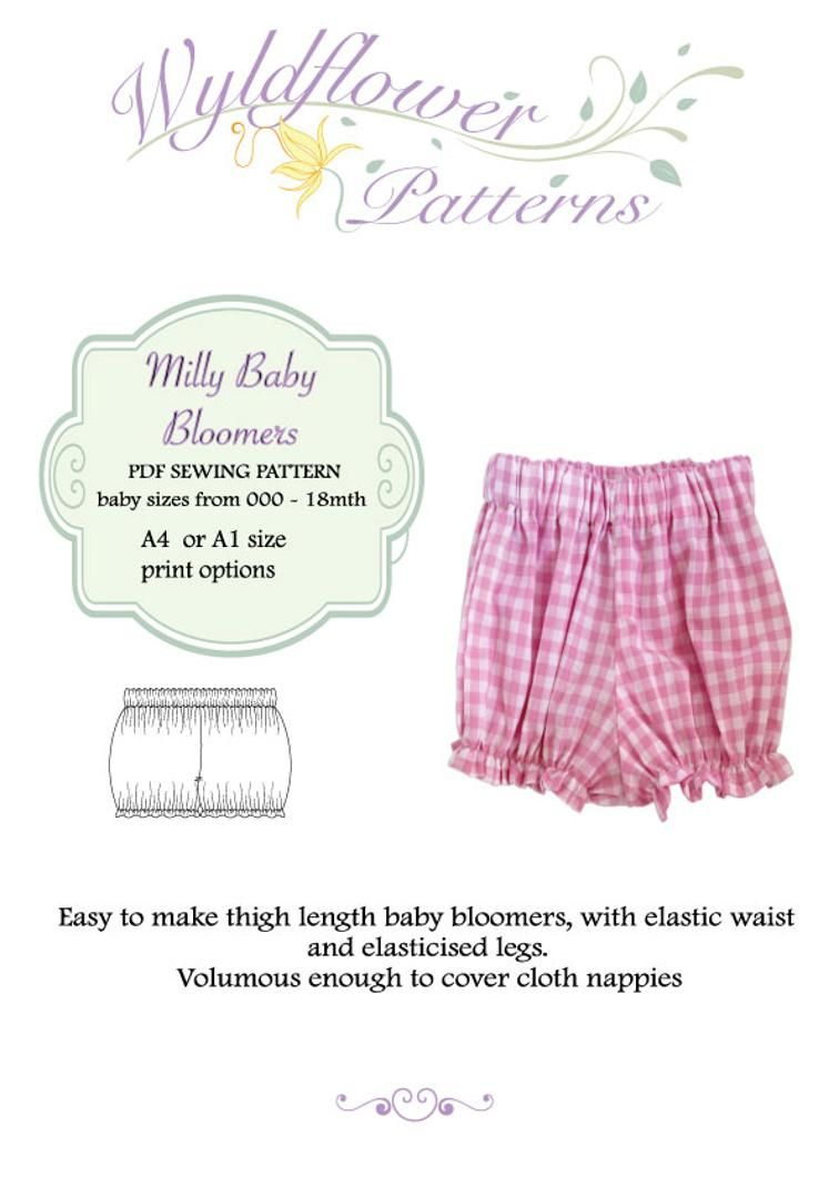 Milly Baby Bloomers | Craftsy | Costura | Costura, Bordado, Blusas