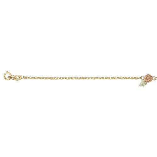 10k Black Hills Gold 12k Gold Leaves Anklet Women's Jewelry * Be sure to check out this awesome product.