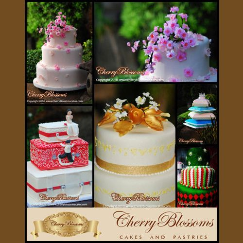 Wedding Cakes from Cherry Blossoms Cakes & Pastries #weddingcake #cherryblossomsweddingcake