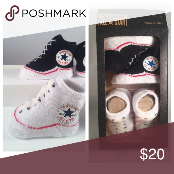c319685b78ffd8 2 Pair Converse Baby Booties 0-6 Month New! 2 Pair of Converse Chuck Taylor  Baby Booties • Size 0-6 Months • New In Box • Awesome Baby Shower Gift!