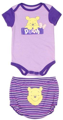 9c60e1cfe Amazon.com: Disney Newborn Baby Girls Winnie the Pooh Creeper Diaper Cover  Set: Clothing
