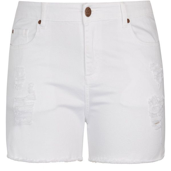 ff0e7ca960 City Chic White Out Short Short ($59) ❤ liked on Polyvore featuring shorts,