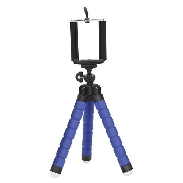 17 SHOOT Mini Flexible Tripod for Phone   Bule Tripod Set