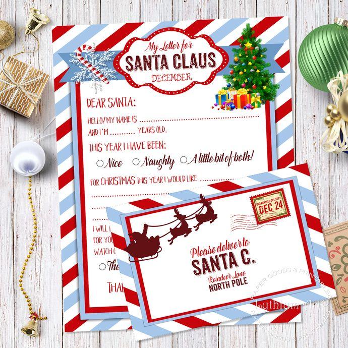 Letter to santa kit santa letter kit with envelope template letter letter to santa kit santa letter kit with envelope template letter to santa christmas spiritdancerdesigns Gallery