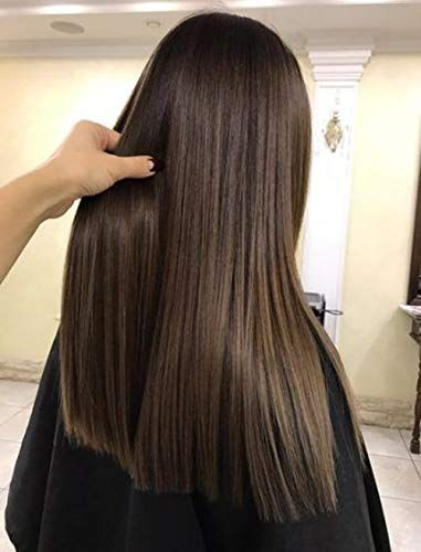 Sunny Medium Golden Brown Wigs Straight U Part Hair Extensions